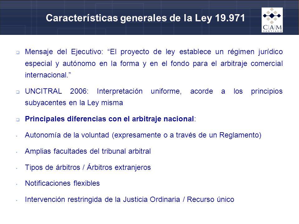 Características generales de la Ley 19.971