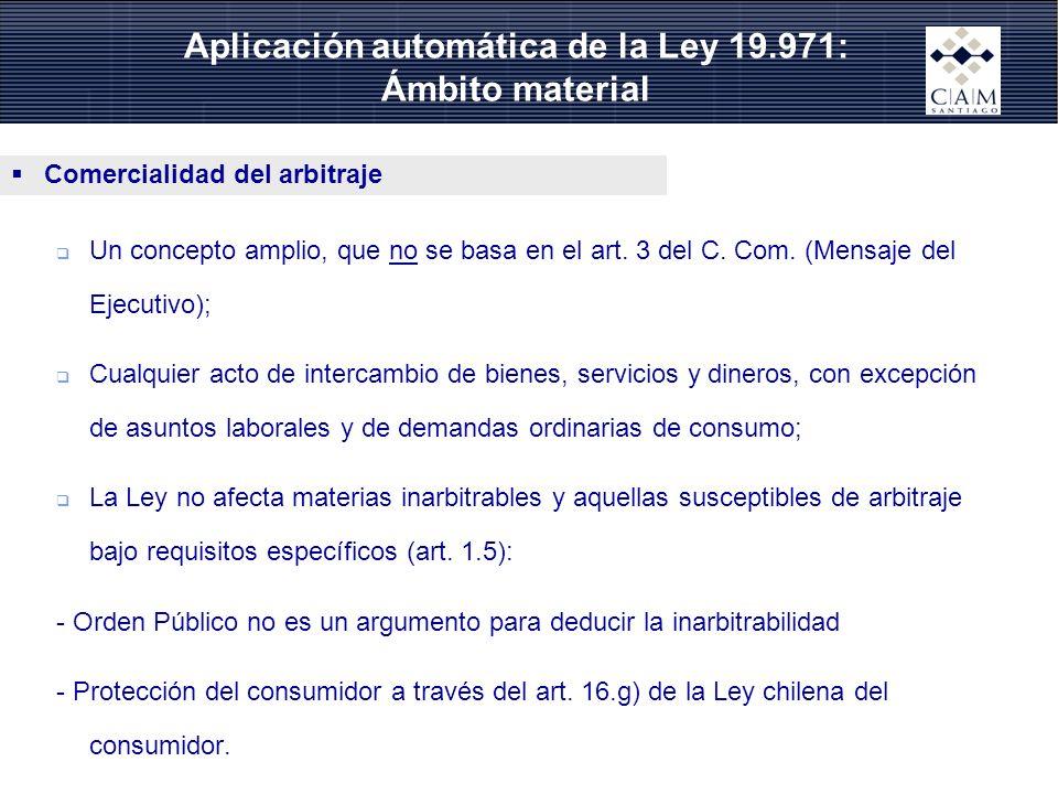 Aplicación automática de la Ley 19.971: Ámbito material