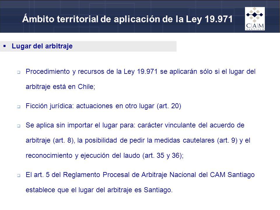 Ámbito territorial de aplicación de la Ley 19.971