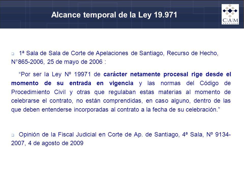 Alcance temporal de la Ley 19.971