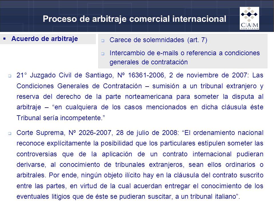 Proceso de arbitraje comercial internacional