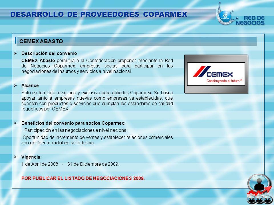 DESARROLLO DE PROVEEDORES COPARMEX