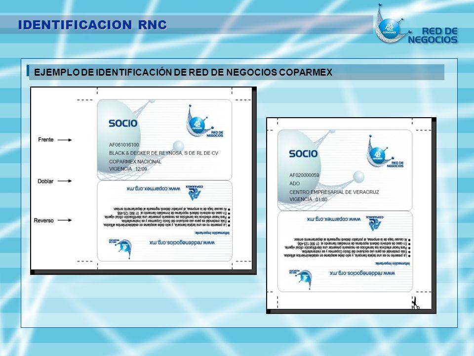 IDENTIFICACION RNC EJEMPLO DE IDENTIFICACIÓN DE RED DE NEGOCIOS COPARMEX