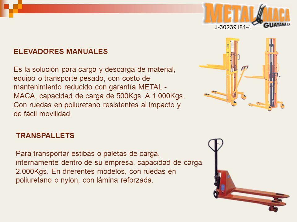 J-30239181-4 ELEVADORES MANUALES.