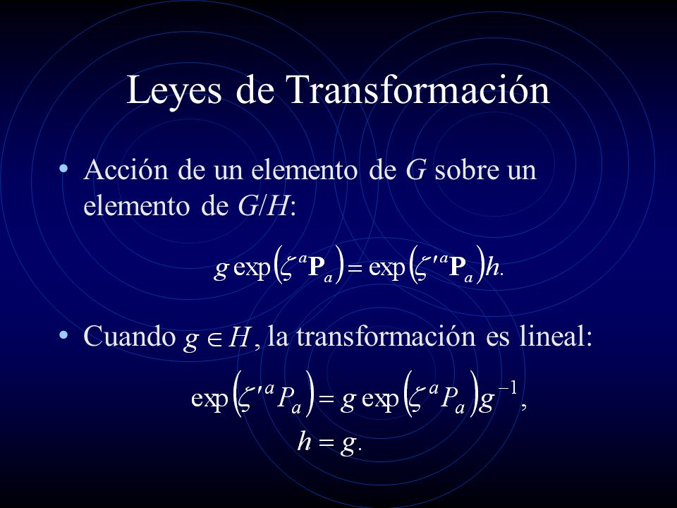 Leyes de Transformación