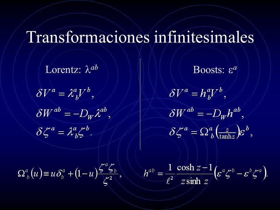Transformaciones infinitesimales