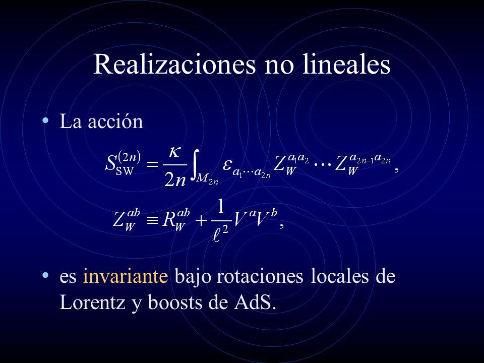 Realizaciones no lineales