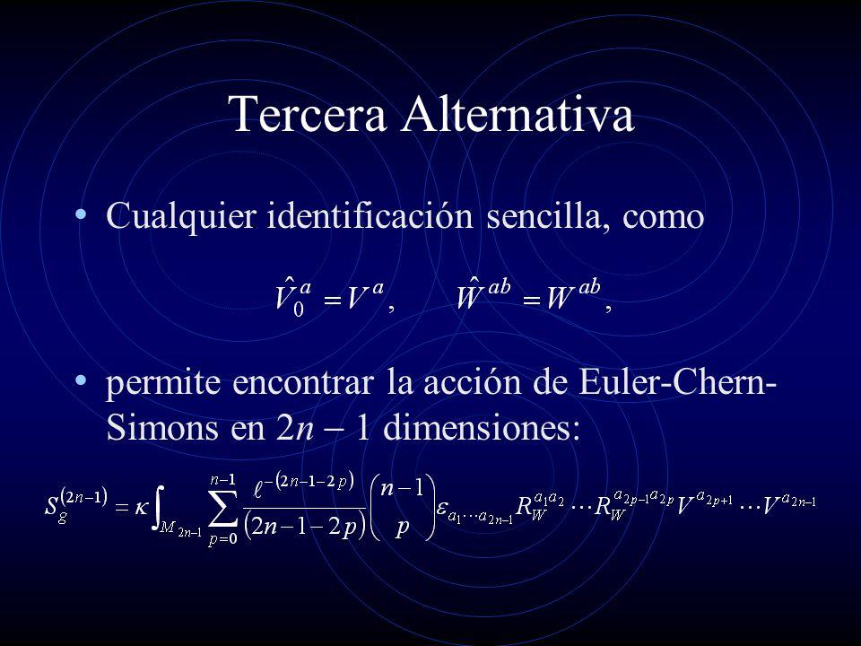 Tercera Alternativa Cualquier identificación sencilla, como