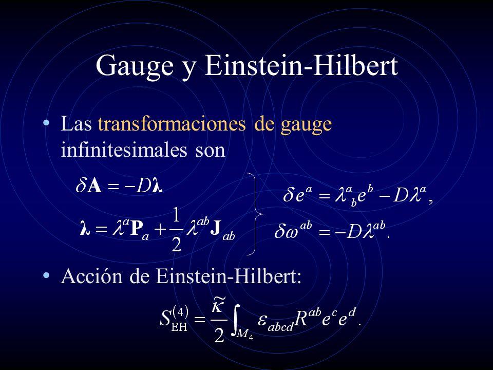 Gauge y Einstein-Hilbert