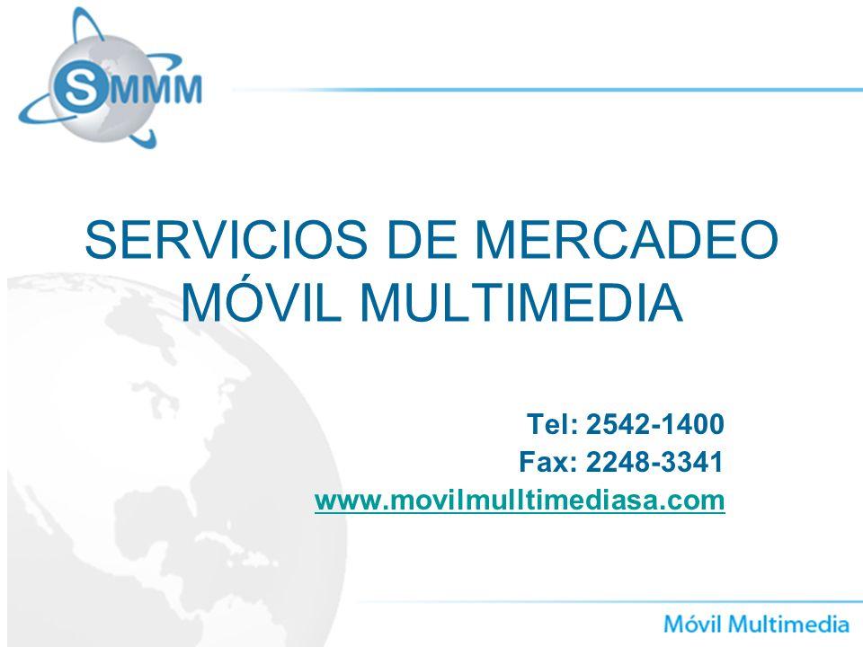 SERVICIOS DE MERCADEO MÓVIL MULTIMEDIA