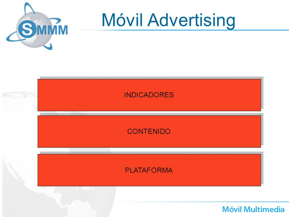 Móvil Advertising INDICADORES CONTENIDO PLATAFORMA