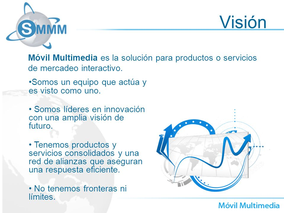 Visión Móvil Multimedia es la solución para productos o servicios de mercadeo interactivo. Somos un equipo que actúa y es visto como uno.