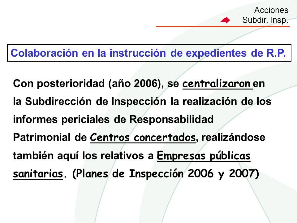 Colaboración en la instrucción de expedientes de R.P.