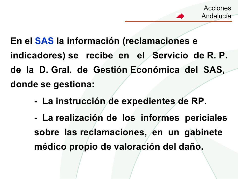 - La instrucción de expedientes de RP.