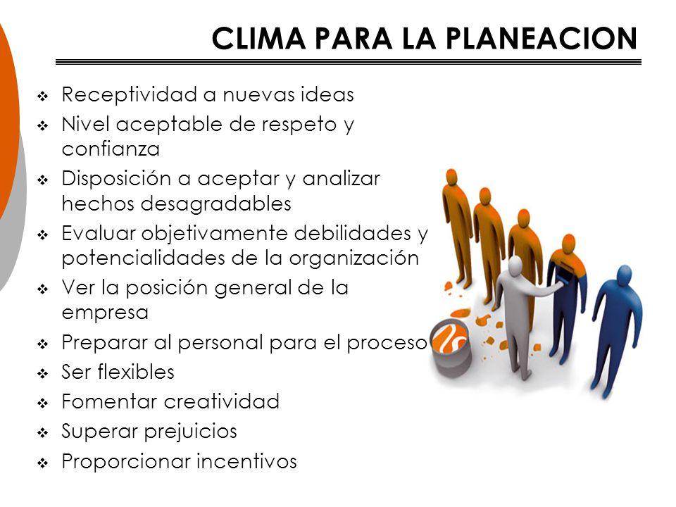 CLIMA PARA LA PLANEACION
