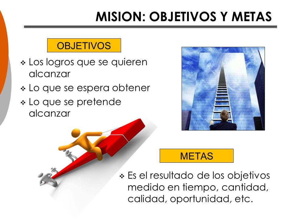 MISION: OBJETIVOS Y METAS