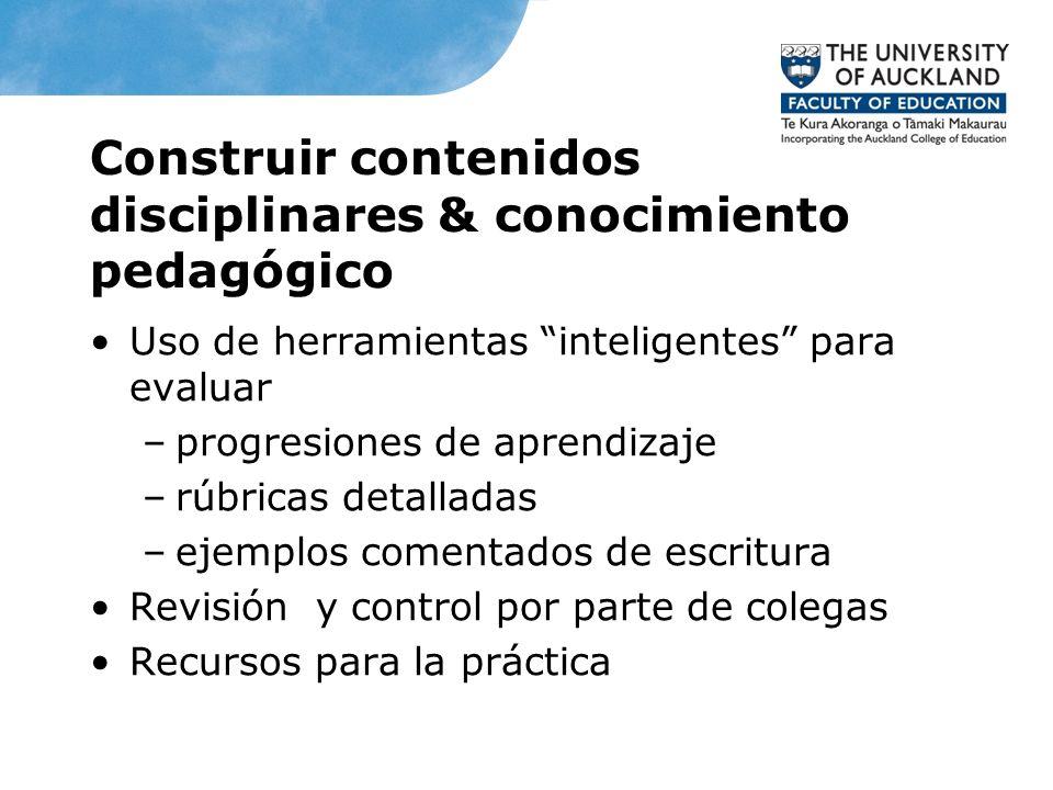 Construir contenidos disciplinares & conocimiento pedagógico
