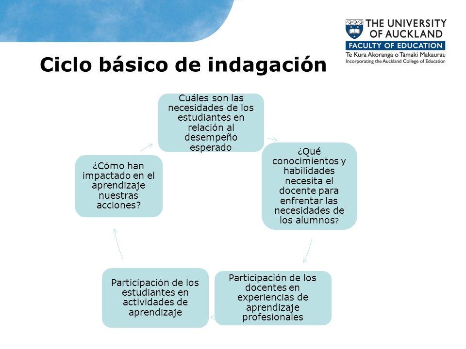 Ciclo básico de indagación