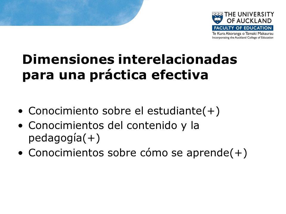 Dimensiones interelacionadas para una práctica efectiva