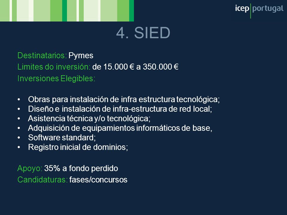 4. SIED Destinatarios: Pymes