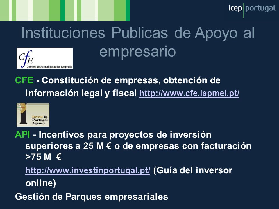 Instituciones Publicas de Apoyo al empresario