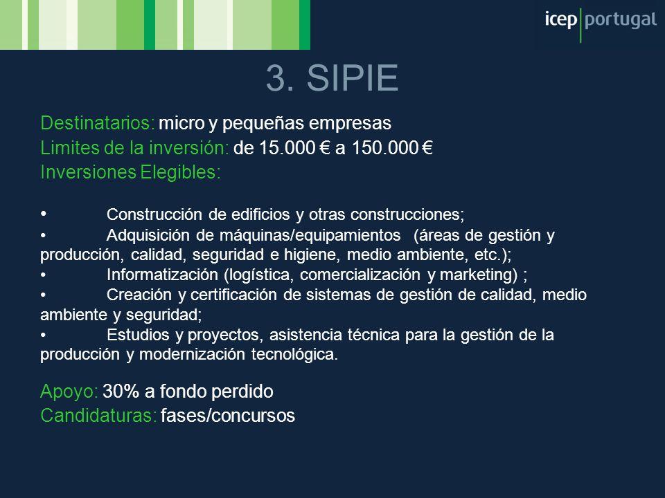 3. SIPIE Destinatarios: micro y pequeñas empresas