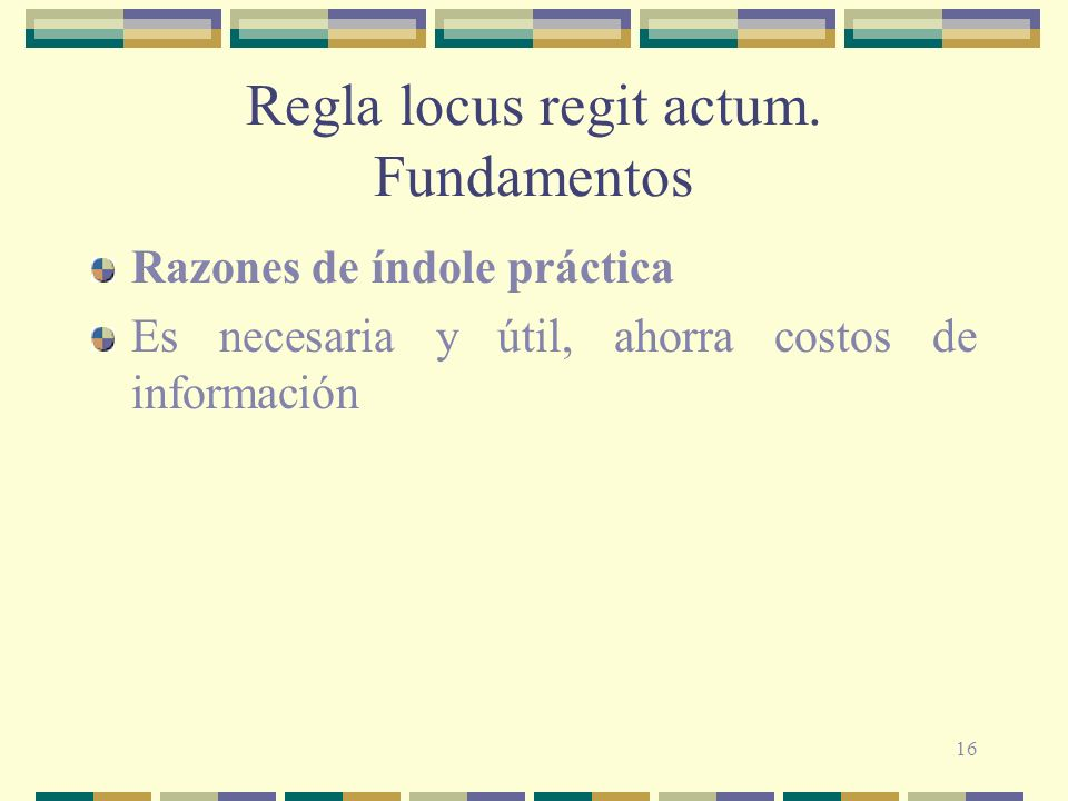 Regla locus regit actum. Fundamentos