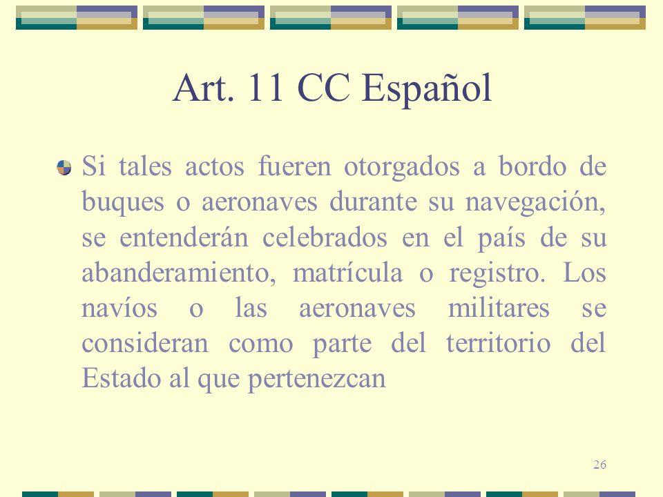 Art. 11 CC Español