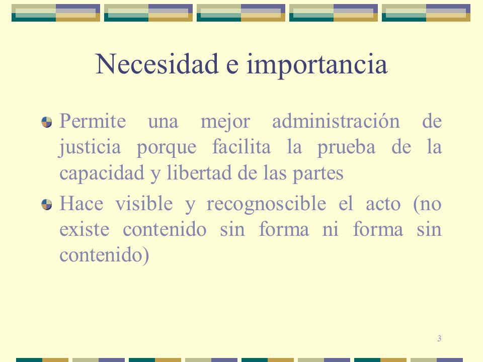 Necesidad e importancia