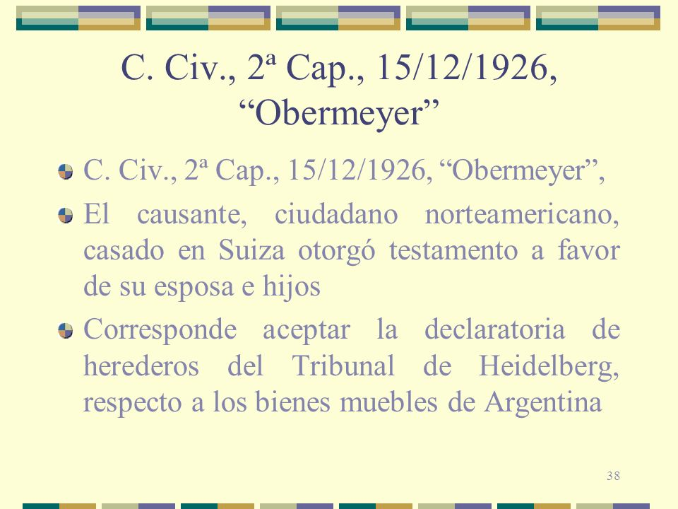 C. Civ., 2ª Cap., 15/12/1926, Obermeyer
