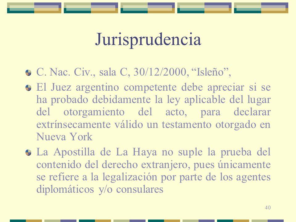 Jurisprudencia C. Nac. Civ., sala C, 30/12/2000, Isleño ,