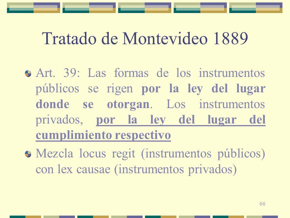 Tratado de Montevideo 1889
