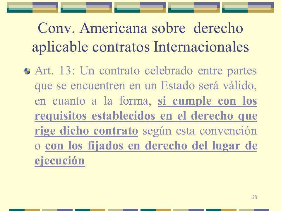 Conv. Americana sobre derecho aplicable contratos Internacionales