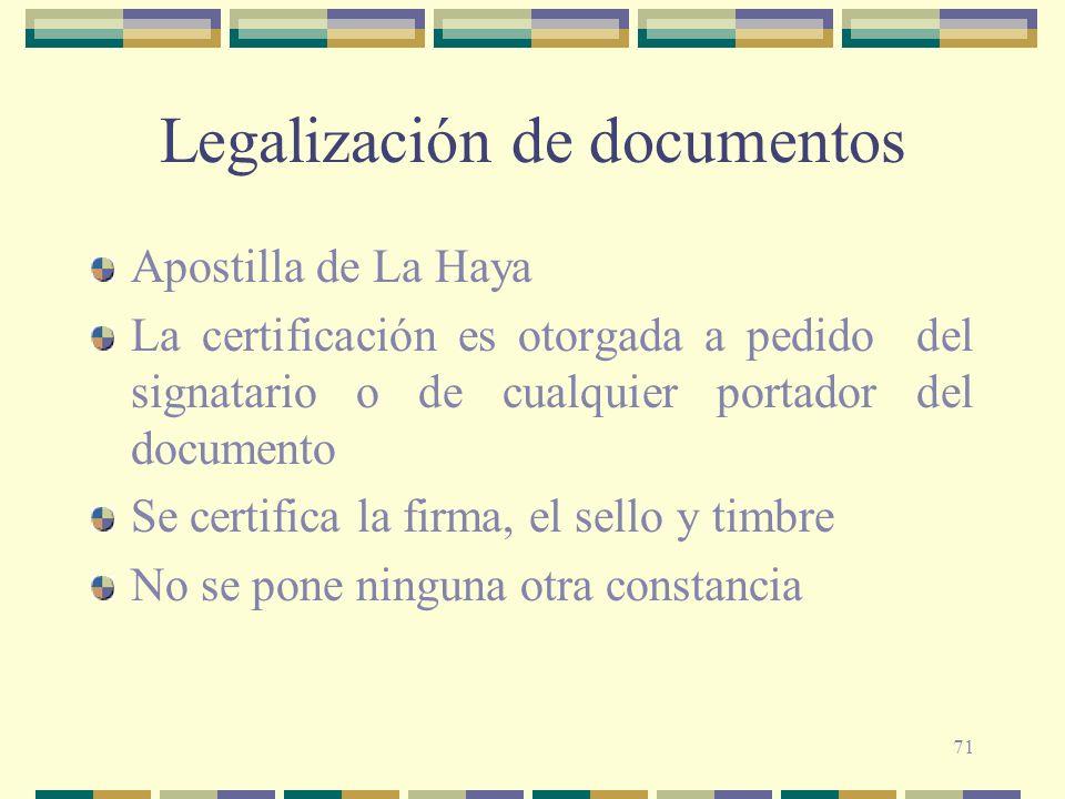 Legalización de documentos
