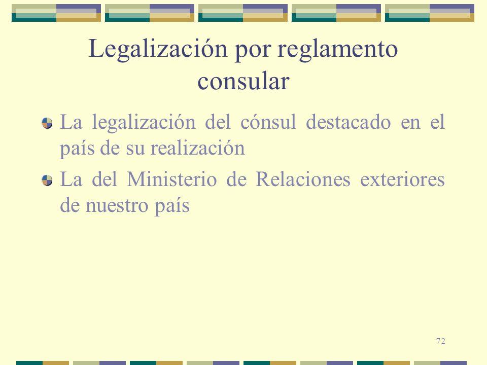 Legalización por reglamento consular