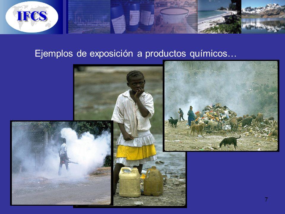 Ejemplos de exposición a productos químicos…