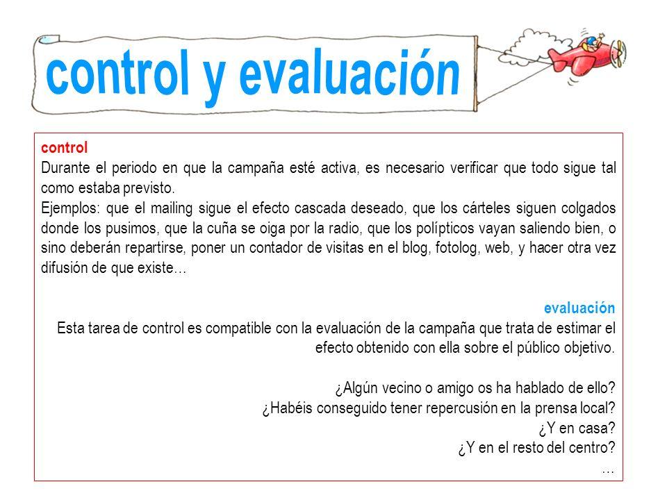 control y evaluación control