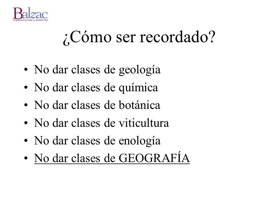 ¿Cómo ser recordado No dar clases de geología