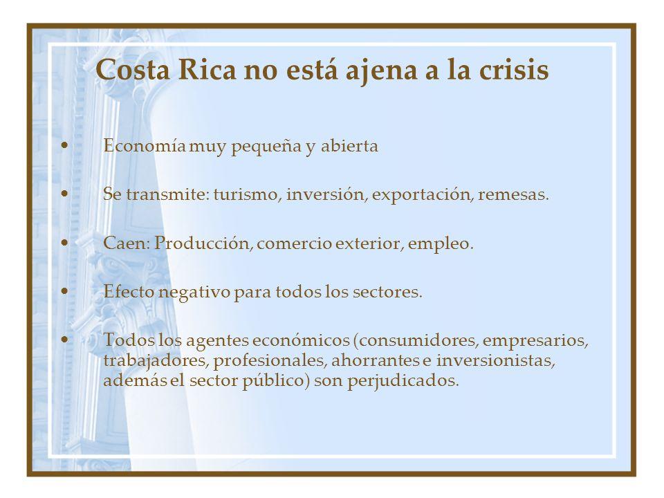 Costa Rica no está ajena a la crisis