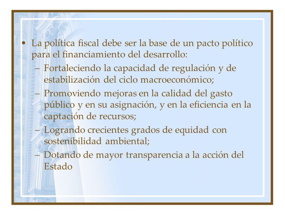 La política fiscal debe ser la base de un pacto político para el financiamiento del desarrollo: