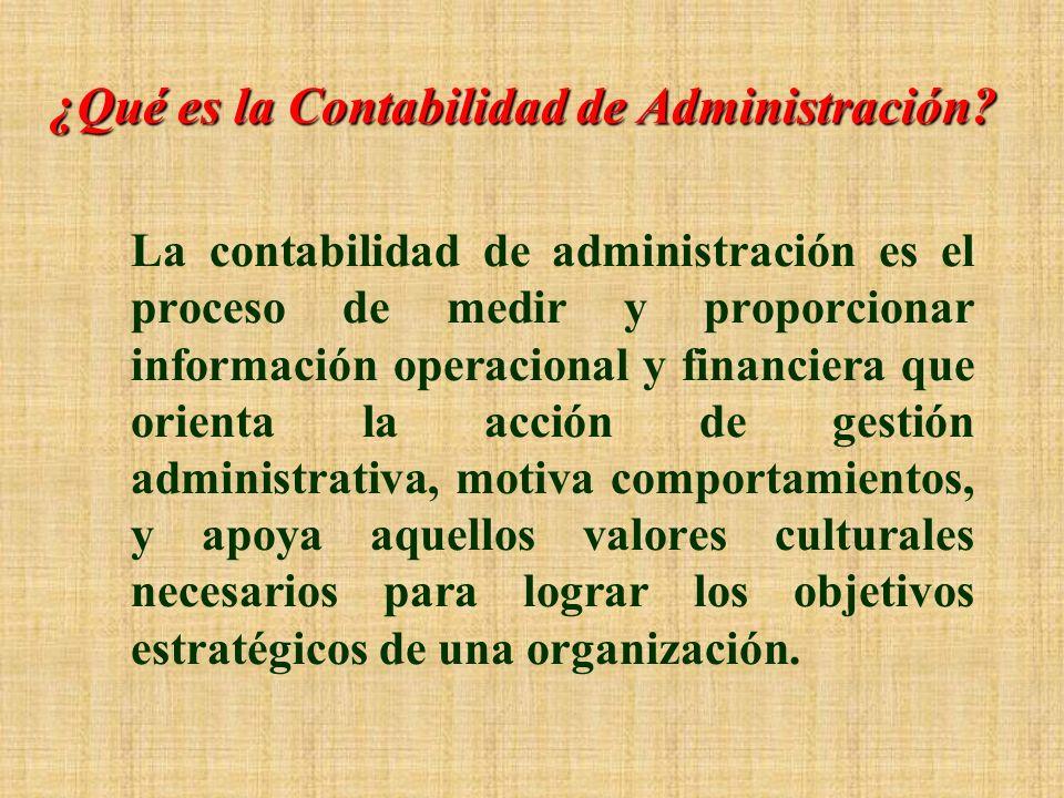 ¿Qué es la Contabilidad de Administración