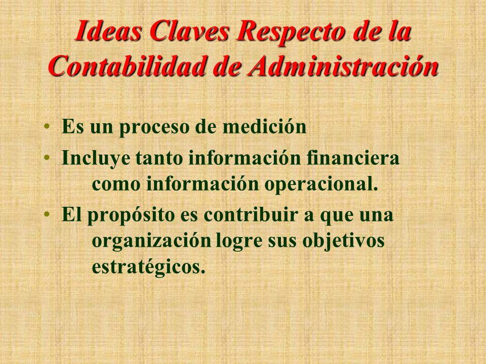 Ideas Claves Respecto de la Contabilidad de Administración
