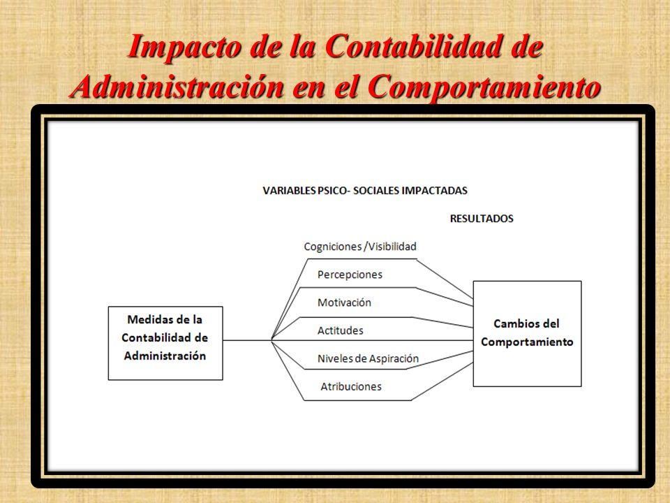 Impacto de la Contabilidad de Administración en el Comportamiento