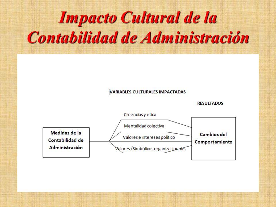 Impacto Cultural de la Contabilidad de Administración