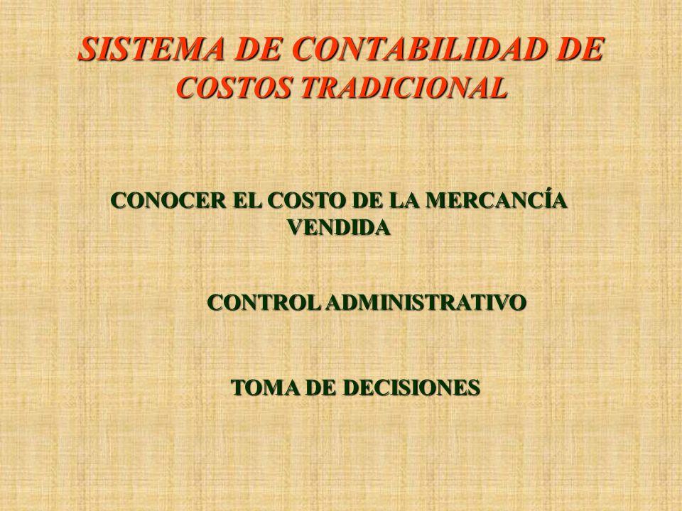 SISTEMA DE CONTABILIDAD DE COSTOS TRADICIONAL