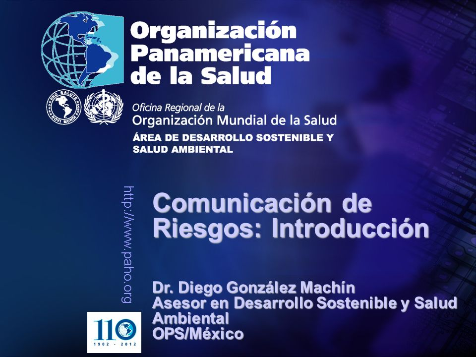 Comunicación de Riesgos: Introducción
