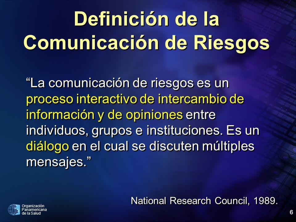 Definición de la Comunicación de Riesgos