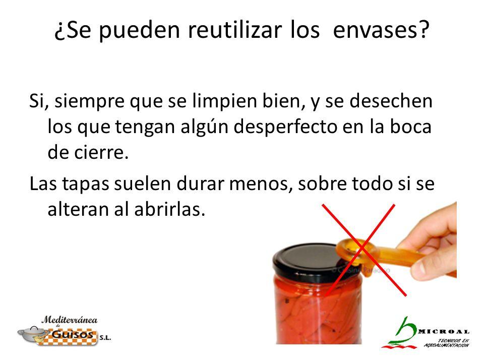 ¿Se pueden reutilizar los envases