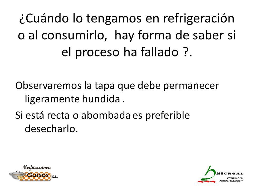 ¿Cuándo lo tengamos en refrigeración o al consumirlo, hay forma de saber si el proceso ha fallado .