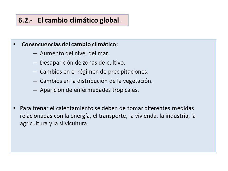 6.2.- El cambio climático global.